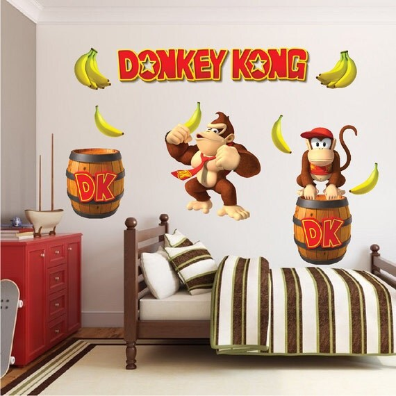Donkey Kong Decal Donkey Kong Wall Decal Donkey Kong By