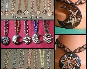 Macramé necklaces with said coconut