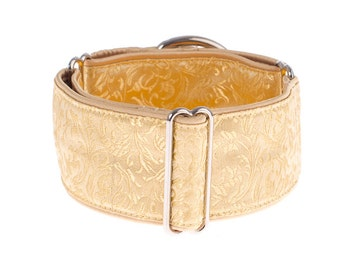 Martingale collar, greyhound collar, 1,5 inch, dog collar, martingale, gold,martingale dog collar, whippet, galgo
