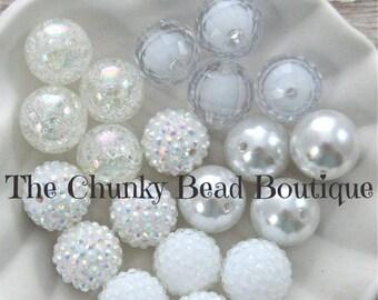 20mm white bead assortment