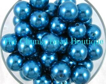 20mm cerulean blue resin pearls