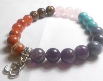 Chakra bracelet with Aum symbol