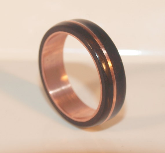 Wooden Rings Bentwood Copper And Ebony By Ancientcuriosities