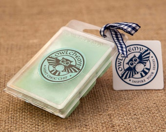 Mint Choc Chip wax melts Owlchemy blended beeswax