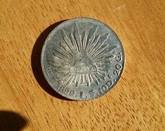 Old Mexican coin large