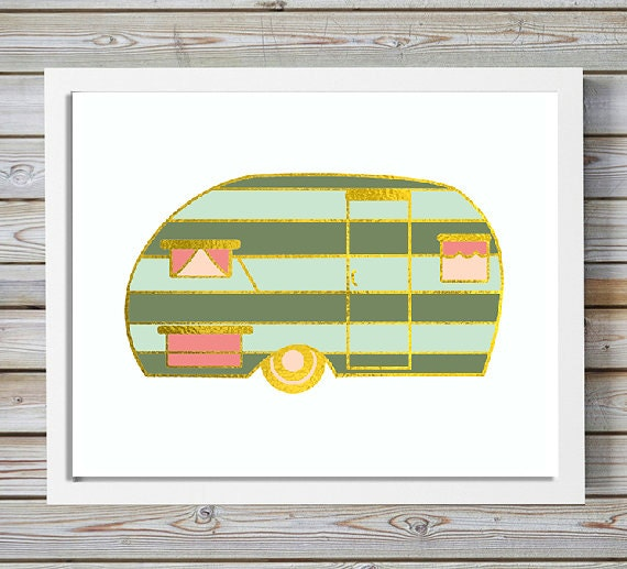 Items Similar To Camper Sign Retro Camper Rv Decor Wall