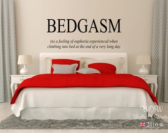 Bedgasm Wall Sticker Wall Art