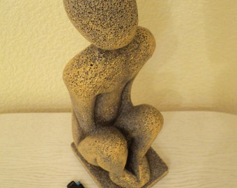 "Sculpture, decoration, ""Solitude"", Art object."