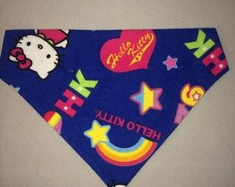 Handmade slip on dog bandana hello kitty