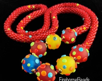 Red juicy fruit necklace