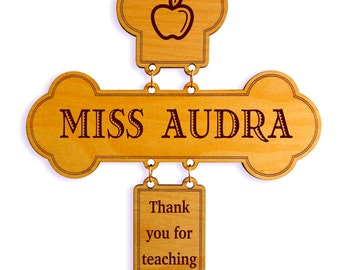 Custom Teacher Appreciation Wall Cross Gift, Personalized Thank you Gift, Teacher Gift, Awesome Teacher, Best Teacher Gift from Student.