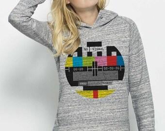 Hooded sweatshirt organic fair trade cotton Female Heather Grey Slub visual Mire