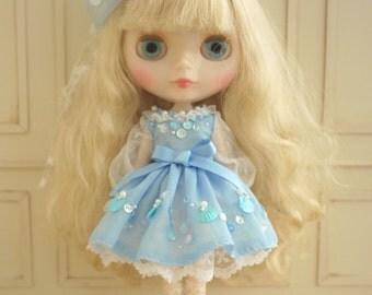 Fraise - Neo Blythe Doll Blue Dress