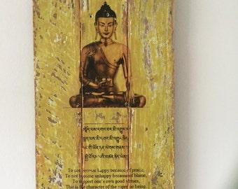 Buddha Prayer Wall Art Pallet Wood