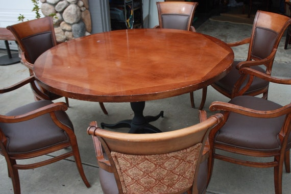 dinning set kitchen table table 6 armchairs by