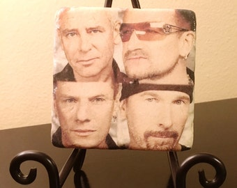 U2 The Band Coaster Set (Includes 4 Tiles)