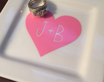 Heart Jewelry Dish, Ring dish, Customized jewelry dish, Personalize
