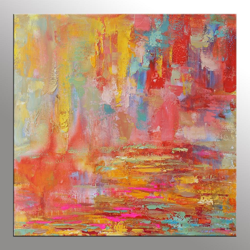 Abstract Painting Original Painting Kitchen Wall by ...