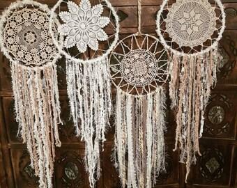 Earthy toned crochet handmade dream catcher dreamcatcher Wedding
