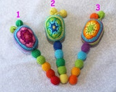 Rattle, Teether, Crochet teether, Crochet rattle, Gift for baby, Crochet maracas, Maracas, Baby shower gift, Baby teething toy,Gift for baby