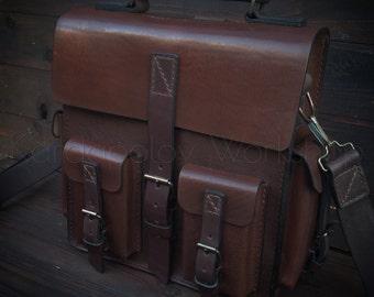 Handmade shoulder bag - backpack