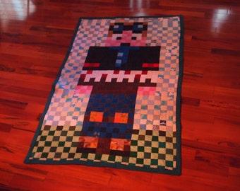 "handmade Minecraft DanTDM Quilt 76"" x 44.5"""