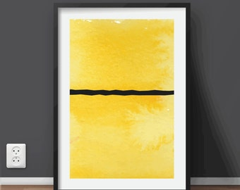 Minimal Watercolor Abstract Geometric Art | Printable art scalable to ALL SIZES