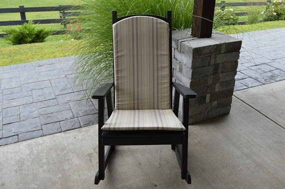 Back and Seat Cushion for Rocking Chair - 1 Inch Thick - *20 Outdoor ...