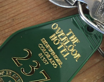 The Shining inspired OVERLOOK HOTEL 'Winter Green' 237 keytag -