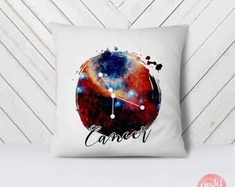 Zodiac Sign Cancer Horoscope Constellation – Galaxy - Throw Pillow Case, Pillow Cover, Home Decor - TPC1178