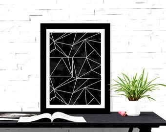 Geometric Design Abstract Lines 8x10 inch Poster Print - P1215