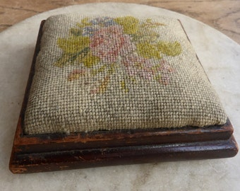 Antique embroidered pin cushion pincushion