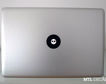 Sunglasses Smiley Macbook Decal / Emoji Macbook Pro Sticker