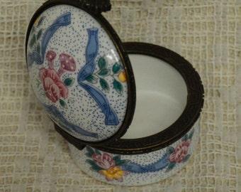 Porcelain Stamp Jar