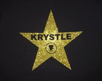 Movie Theme Glitter Vinyl Tshirt or Tank Top