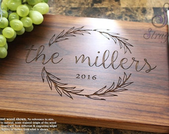 Personalized Cutting Board - Engraved Cutting Board, Wedding Gift, Anniversary Gift, Housewarming Gift, Corporate Gift. 413