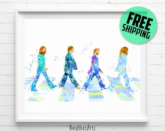 The Beatles Abbey Road print, The Beatles print, Abbey Road poster, The Beatles poster, John Lennon, Paul McCartney, wall art, [146] decor
