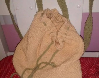 Backpack cotton strapless yellow cord green for women
