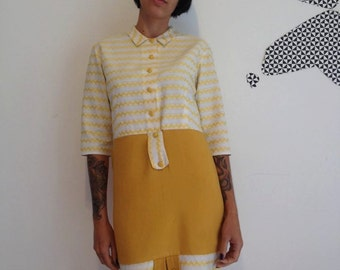 60s MOD YELLOW DRESS
