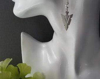 Antique Silver Arrow Head Earrings / Boho Earrings / Silver Dangle Earrings / Boho Earrings