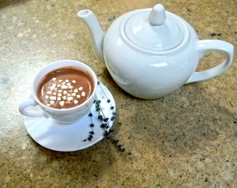 Lavendoola's Lavender Hot Chocolate - Rich, Smooth, Chocolate, Single Serving
