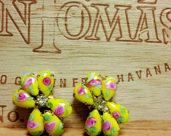 Vintage candy colored clip-ons