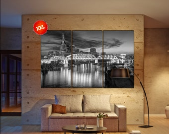 Nashville wall decor art  Nashville  black white  Nashville canvas wall art  canvas wall art