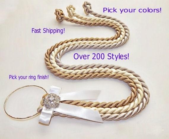 Marriage braid cord of three strands unity braid 3 cord strands