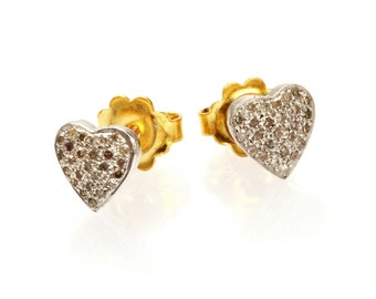 "Earrings ""White Heart"""