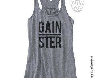 GAINSTER, FLOWY RACERBACK tank, fitness, gym,workout,yoga,pilates,barre