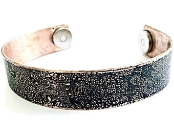 Magnetic Copper Mantra Bracelet Cuff - Copper Healing Cuff - Magnetic Therapy Healing Bracelet - Arthritis Bracelet