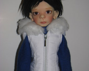 BJD Clothes msd Puffer Vest for Kaye Wiggs. New beautiful fur 20 color available