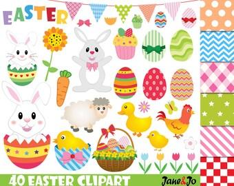 40 Easter clipart, Easter clip art, Easter bunny clipart,easter egg clipart,Easter Egg Clipart,Easter day Clipart,bunny clipart,rabbit egg