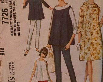 mccall's 7726 vintage women's maternity sewing pattern